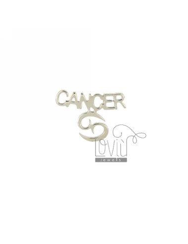 EARRING SINGLE CANCER SILVER RHODIUM TIT 925