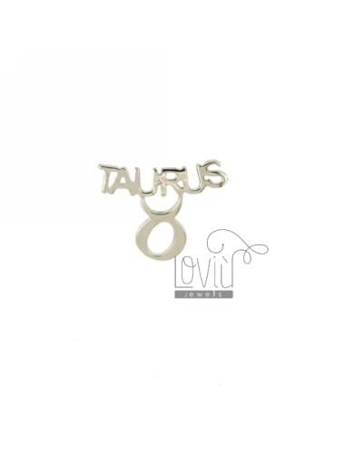 Mono taurus silver earring...