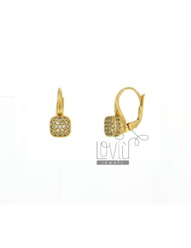 SQUARE EARRINGS MM 7X7 WITH...