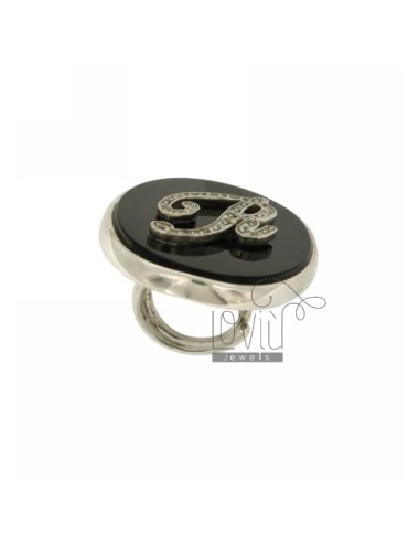 Ring size adjustable oval...