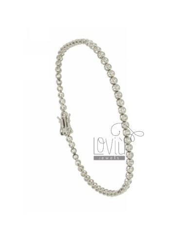 BRACELET tennnis CIPOLLINO 2.5 MM PLATED RHODIUM IN AG TIT 92.5 ‰ AND ZIRCONIA WHITE 21 CM