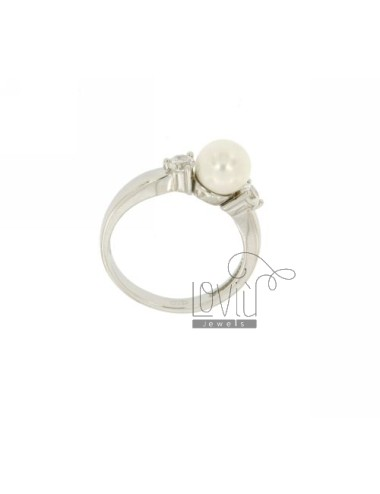 RING WITH WHITE PEARL MM 7...