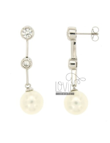 Orecchini pendenti perla...