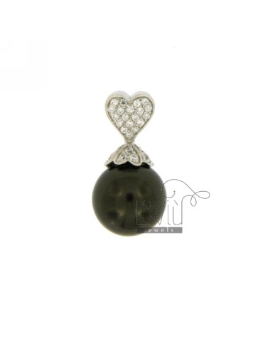 PENDANT HEART AND BLACK...