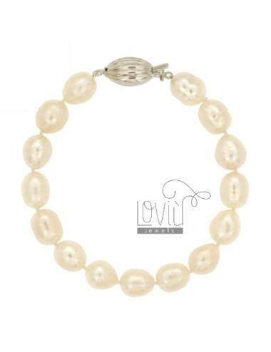 Weiß barocken Perlenarmband...
