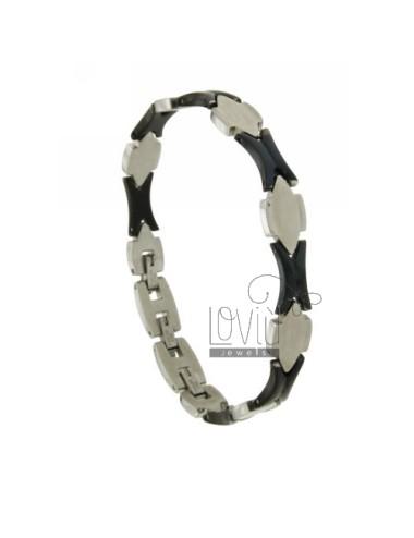 Bracelet pivoted steel bicolor