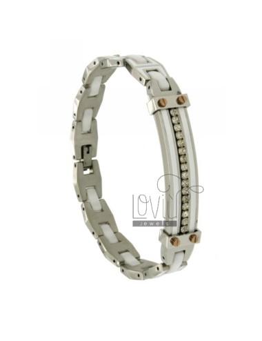 Two.tone bracelet steel,...