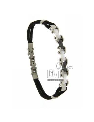 Bracelet lanyard silk stahl...