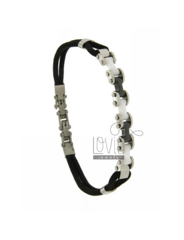 Bracelet lanyard silk steel...
