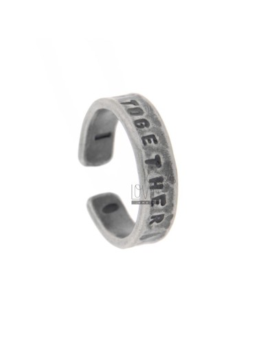 RING &quotTOGETHER&quot SILVER BRUNITO TIT 925 ‰ SIZE ADJUSTABLE