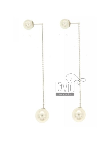 EARRINGS DOUBLE CHAIN WITH...
