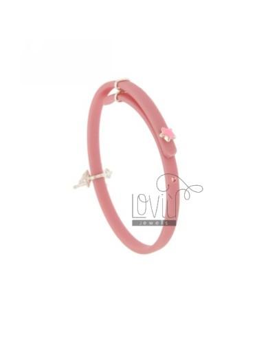 Rubber girl bracelet with...