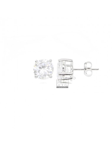EARRINGS LIGHT POINT WITH WHITE ZIRCONE 8 MM IN AG TIT 925 ‰
