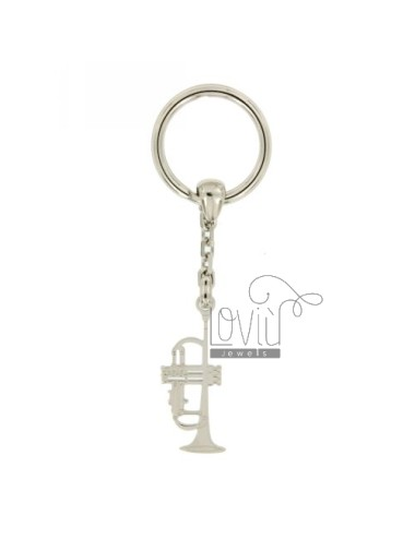 KEY HOLDER TRUMPET IN AG TIT RODIATO 925 ‰