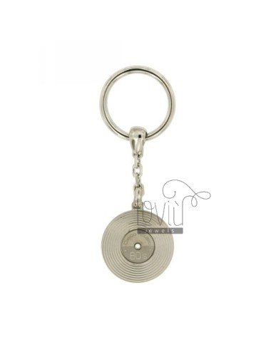 KEY RING DISC VINYL IN AG TIT RODIATO 925 ‰