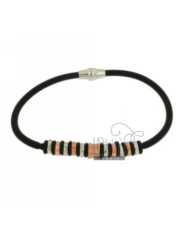 Rubber bracelet 19 cm with...