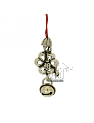 CHARMS FOR MOBILE WITH CLOVER AND LADYBIRD Rattle IN AG TIT 800 ‰