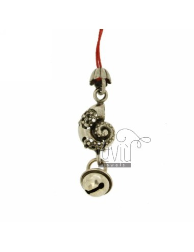 CHARMS FOR MOBILE WITH SHELL Rattle IN AG TIT 800 ‰