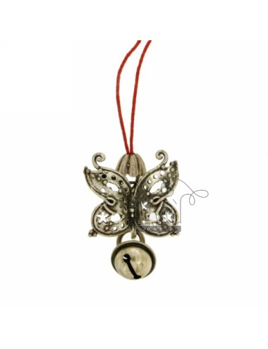 CHARMS FOR MOBILE WITH BUTTERFLY rattle IN AG TIT 800 ‰