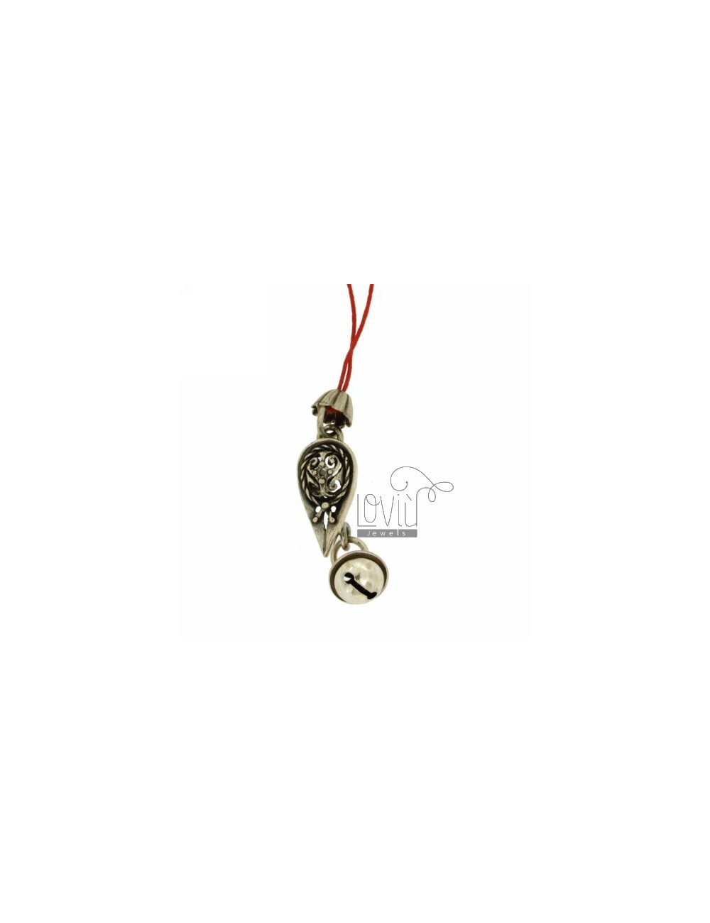 CHARMS FOR MOBILE WITH BACHELOR CAP Rattle IN AG TIT 800 ‰