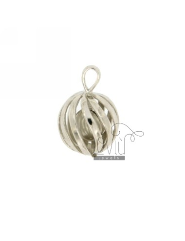 Pendant ANGELS CALL TRAFORATO 14 MM SILVER RHODIUM TIT 925 ‰