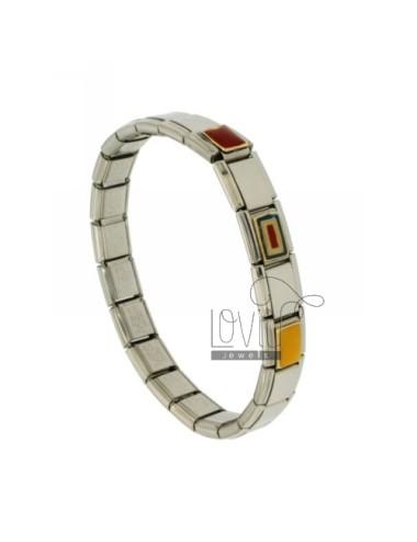 Bracelet stahlband mit 9 mm...
