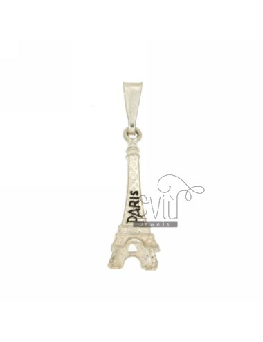 MONUMENT PENDANT EIFFEL TOWER PARIS 30X9 MM IN AG TIT microcast 925 ‰ AND POLISH