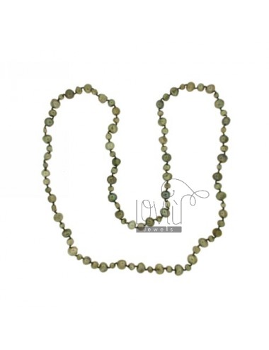 Lace green pearls...