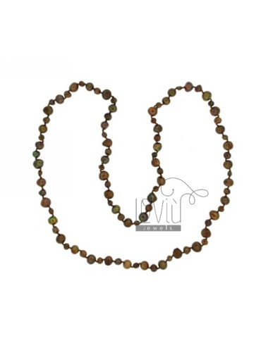 Lace brown perlas...