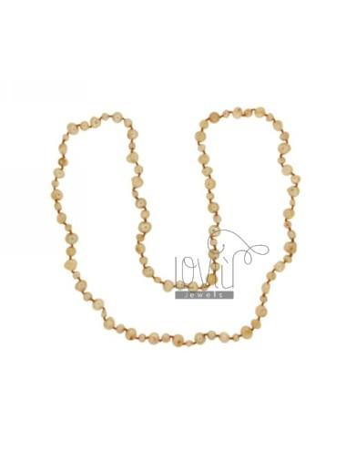 Encaje oro perlas...