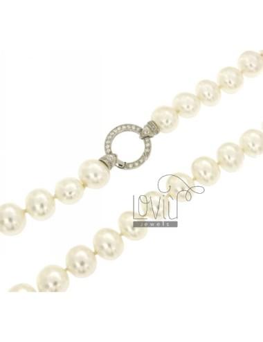 Perlenhalskette oval 15x13...