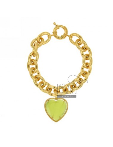 GOLDEN METAL BRACELET WITH HEART
