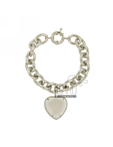 BRACELET METAL HEART WITH GREY