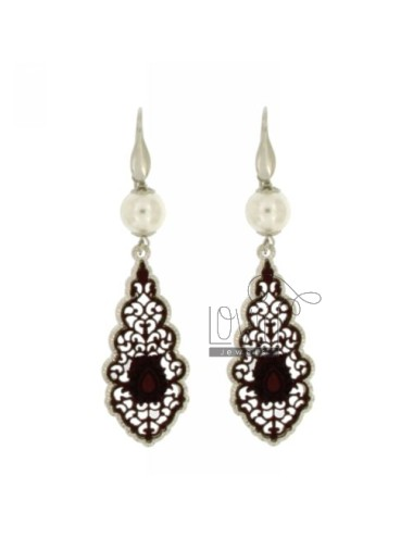 Lace and 90 cm earrings...