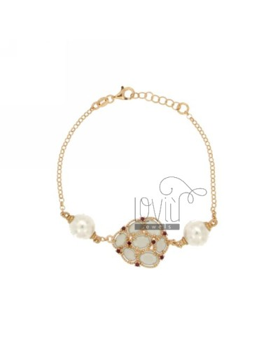Rolo bracelet with pearls...