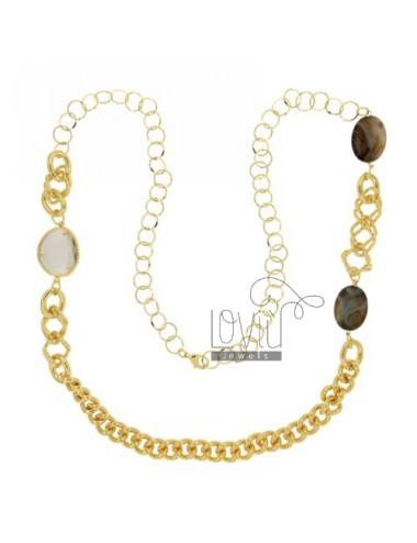 Necklace 90 cm golden metal...
