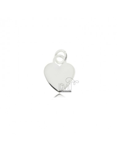 Pendant CUORICINO MM 14 MM PLATE 1 IN AG TIT RHODIUM 925