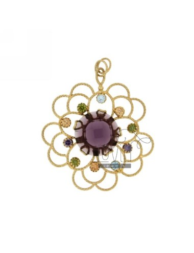 FLOWER NECKLACE 50 MM WITH...