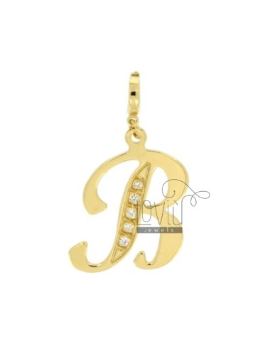 CHARM LETTER B IN SILBER...