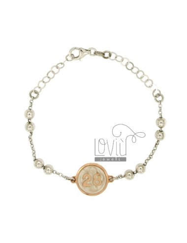 Bracelet rosary type with...