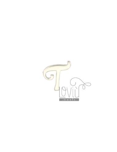 EARRING SINGLE LETTER T 10x7 MM SILVER RHODIUM TIT 925 ‰