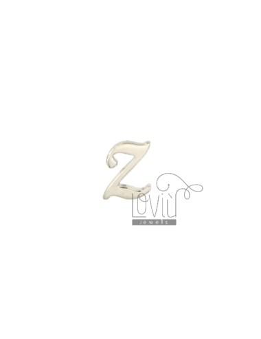 EARRING SINGLE LETTER Z 10x7 MM SILVER RHODIUM TIT 925 ‰