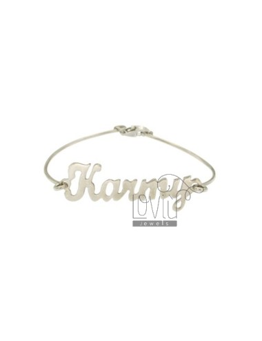 SEMI RIGID BRACELET WITH NAME karmy SILVER RHODIUM TIT 925