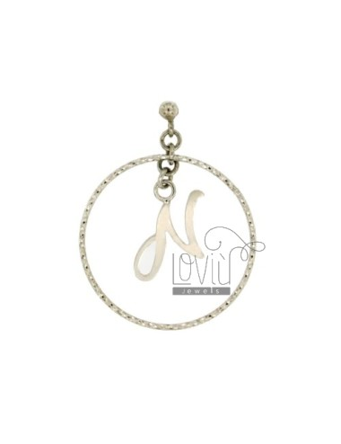 Earring circle with letter...
