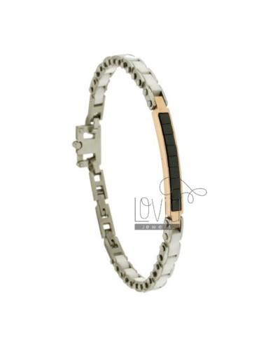 Bracelet in white ceramic...