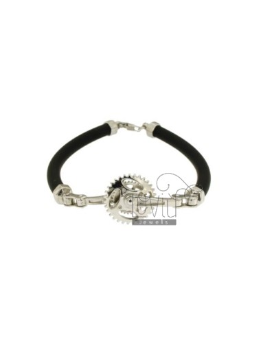 Tubular rubber bracelet 5...