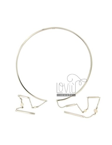 Rigid necklace with rolo...
