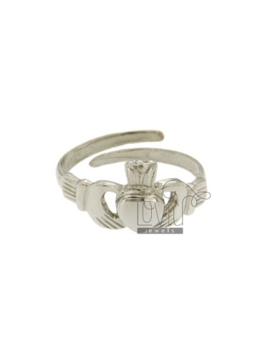 RING THE SACRED HEART IN AG TIT RODIATO 925 ‰ ADJUSTABLE SIZE