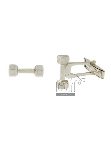 TWINS PESETTO 15x6 MM SILVER RHODIUM TIT 925