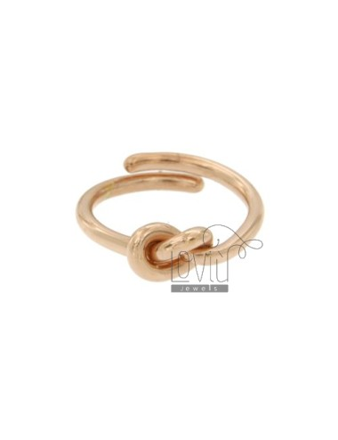 SILVER COPPER KNOT RING TIT 925 ‰ ADJUSTABLE SIZE